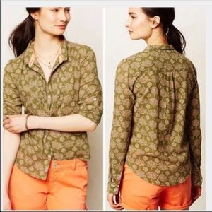 Anthropologie Holding Horses ISMAY Button Down 14